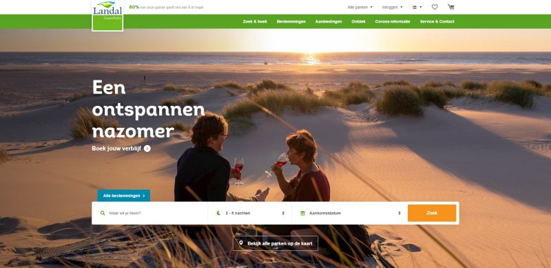 landal website